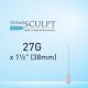 """Dermasculpt Facial Filler Blunt Tip Microcannula 27G x 1 1/2"""" 38mm EO-B-001"""