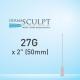 """Dermasculpt Facial Filler Blunt Tip Microcannula 27G x 2"""" - 50mm"""